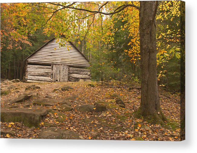 Smoky Mountains Acrylic Print featuring the photograph Bud Ogle Barn by Harold Stinnette