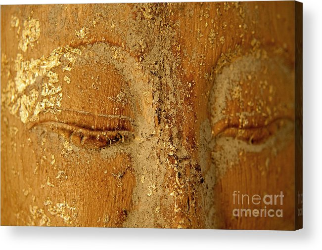 Zen Acrylic Print featuring the painting Buddha's Eyes by Julia Hiebaum