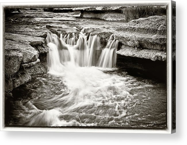 Waterfall Acrylic Print featuring the photograph Bull Creek Water Run by Lisa Spencer