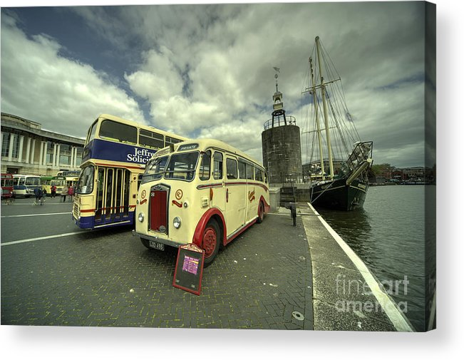 Bus Acrylic Print featuring the photograph Buses N Boat by Rob Hawkins