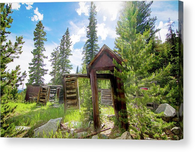 Cabin Acrylic Print featuring the photograph Cabin In The Woods by Mark Andrew Thomas