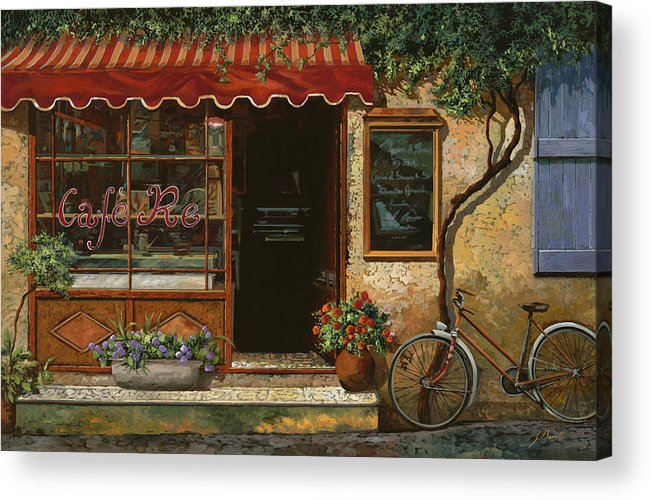 Caffe' Acrylic Print featuring the painting caffe Re by Guido Borelli