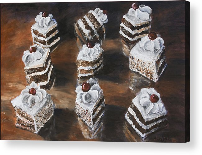 Cake Acrylic Print featuring the painting Cake by Nik Helbig