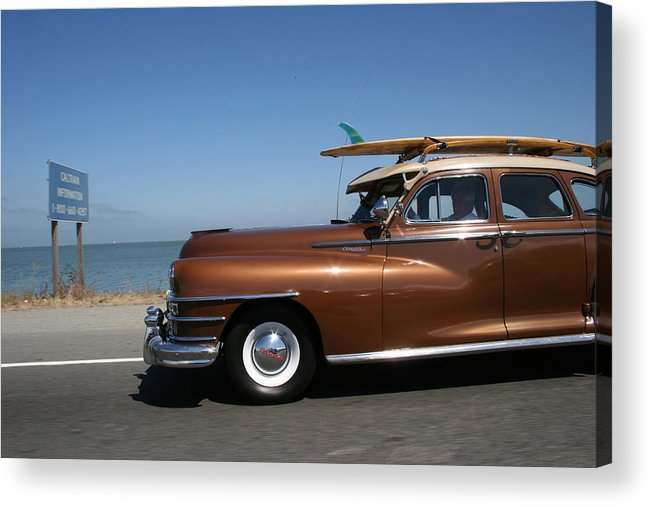Vintage Car Acrylic Print featuring the photograph California Dreaming by Linda Russell