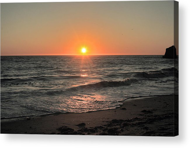 Sunset Acrylic Print featuring the photograph California Sunset Pacific Ocean Davenport by Larry Darnell