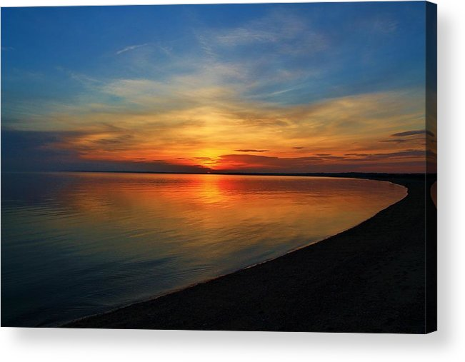 Sunset Acrylic Print featuring the photograph Calm After The Sun Goes Down by Catie Canetti