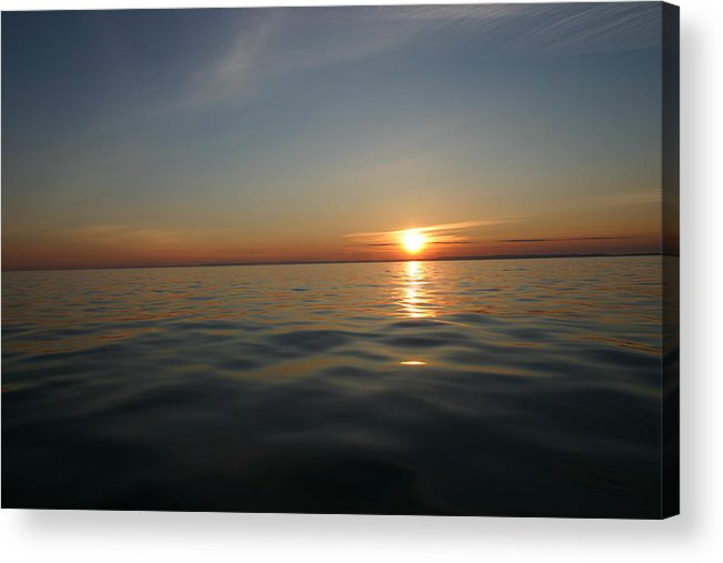 Sunset Acrylic Print featuring the photograph Calm Water Sunset by Kevin Dunham