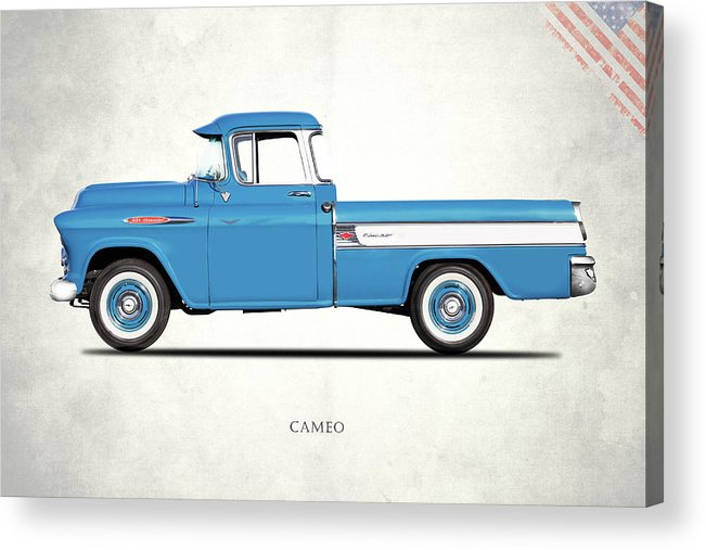 Chevrolet Cameo Acrylic Print featuring the photograph Cameo Pickup 1957 by Mark Rogan