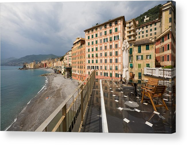 Italy Acrylic Print featuring the photograph Camogli 4 by Luigi Barbano BARBANO LLC