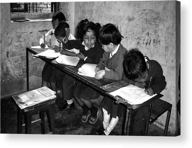 Nepal Acrylic Print featuring the photograph Can You Help Me Please ... by Yvette Depaepe