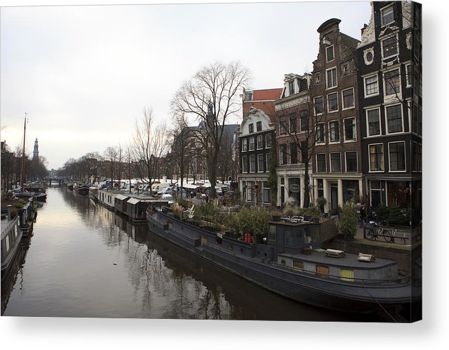 World Cities Acrylic Print featuring the photograph Canals Of Jordaan by Alexander Davydov