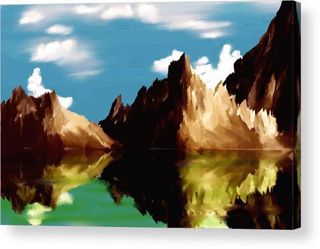 Digital Art Acrylic Print featuring the digital art Canyon Lake by David Lane