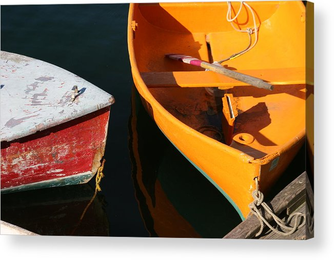 Cape Ann Acrylic Print featuring the photograph Cape Ann Boats by Linda Russell