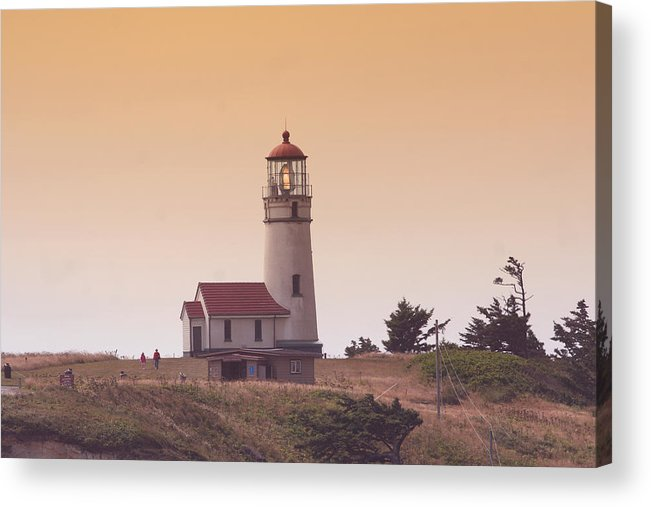 Lighthouse Acrylic Print featuring the photograph Cape Arago Li 6000 by Mary Gaines