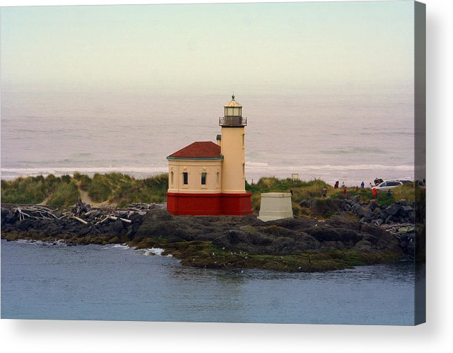 Lighthouses Acrylic Print featuring the photograph Cape Blanco Lighthouse Li 8000 by Mary Gaines