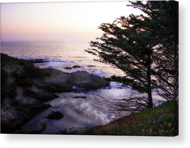 Photo Acrylic Print featuring the photograph Carmel Highlands Sunset 2 by Alan Hausenflock