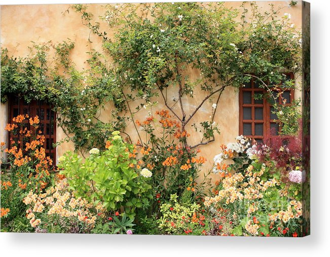 Carmel Mission Acrylic Print featuring the photograph Carmel Mission Windows by Carol Groenen