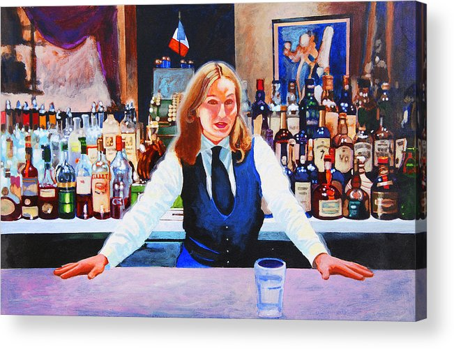 Bar Acrylic Print featuring the painting Cassis by John Tartaglione