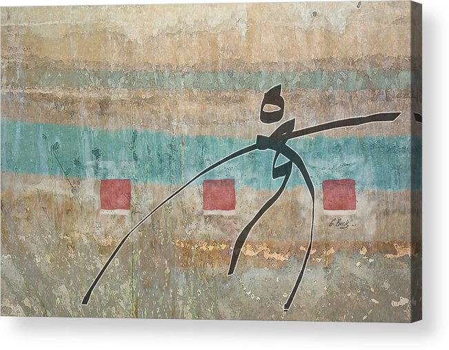 Contemporary Asian Japanese Oriental Abstract Design Gordon Beck Art Acrylic Print featuring the painting Casting About by Gordon Beck