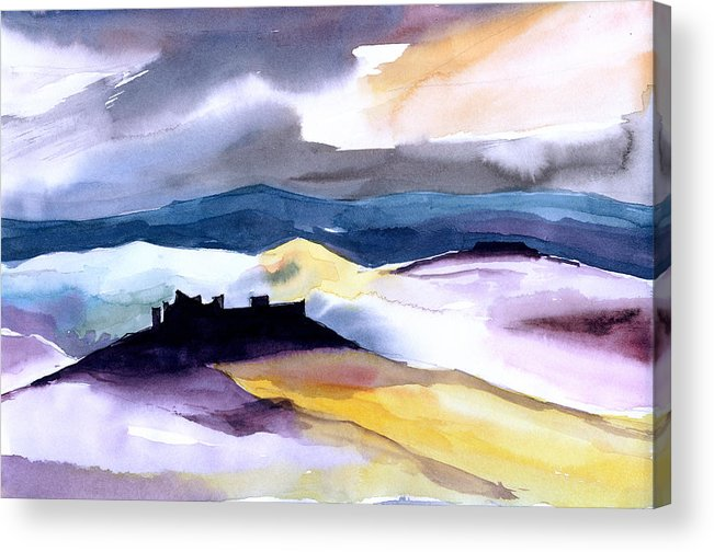 Water Acrylic Print featuring the painting Castle by Anil Nene