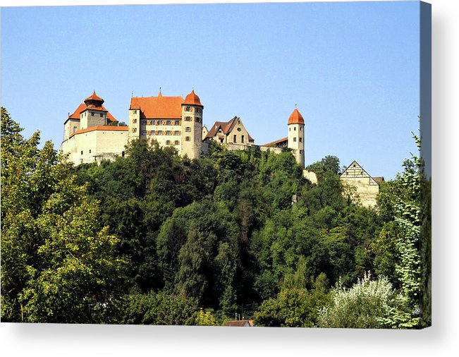 Castle Acrylic Print featuring the photograph Castle Harburg 3 by Pit Hermann