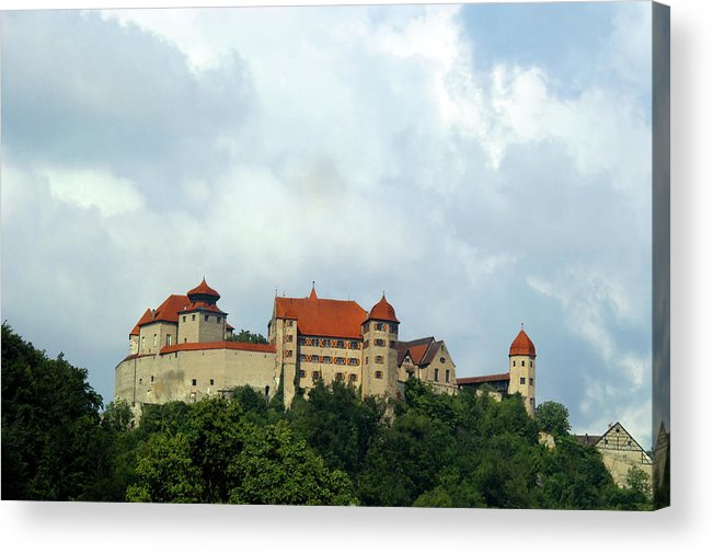 Castle Acrylic Print featuring the photograph Castle Harburg by Pit Hermann