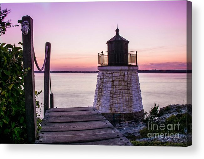 Newport Acrylic Print featuring the photograph Castle Hill At Sunset by Alicia Heaney