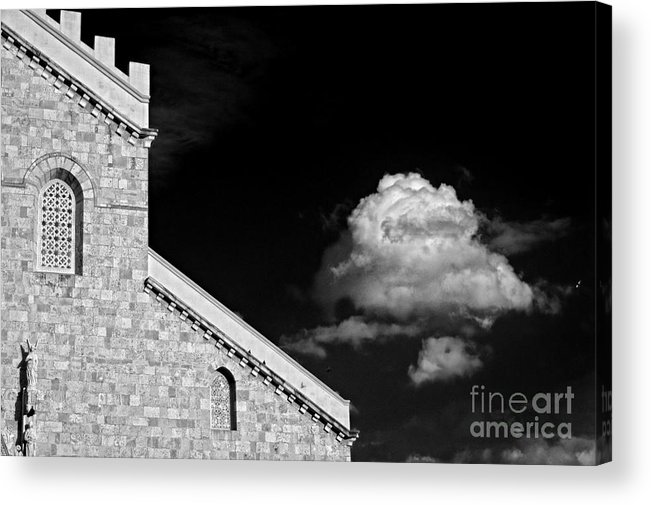 Cathedral Acrylic Print featuring the photograph Cathedral And Cloud by Silvia Ganora