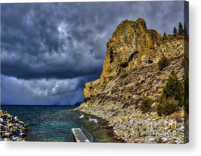Cave Rock Color Acrylic Print featuring the photograph Cave Rock Color by Mitch Shindelbower
