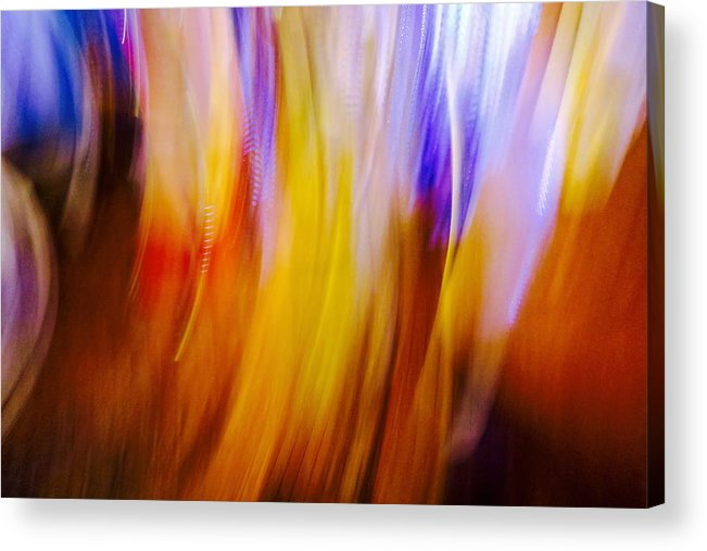 Intentional Camera Movement Acrylic Print featuring the photograph Celebration by Mike Reilly