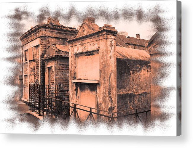 New Orleans Acrylic Print featuring the photograph Cemetary Row by Linda Kish