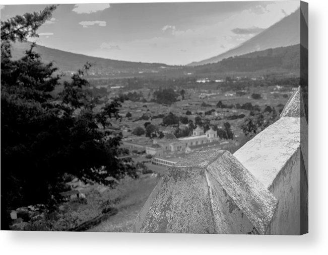 Cerro De La Cruz Acrylic Print featuring the photograph Cerro De La Cruz Bnw I by Totto Ponce
