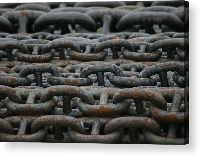 Chains Acrylic Print featuring the photograph Chains by Hans Jankowski