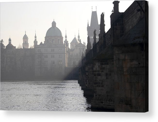 Bridge Acrylic Print featuring the photograph Charles Bridge At Early Morning by Michal Boubin