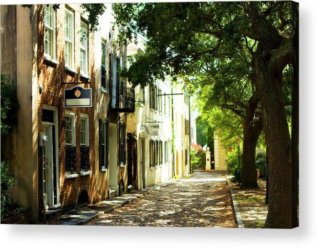Photo Acrylic Print featuring the photograph Charleston Streets 2 by Alan Hausenflock