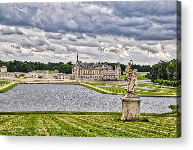 Chateau Acrylic Print featuring the photograph Chateau De Chantilly by D Cochener