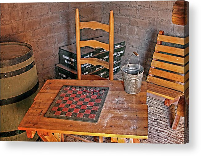Historical Acrylic Print featuring the photograph Checkers Anyone by Linda Phelps