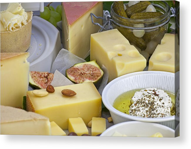 Cheese Acrylic Print featuring the photograph Cheese Plate by Joana Kruse
