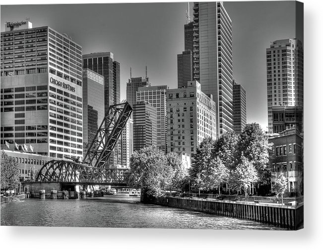 Chicago Acrylic Print featuring the photograph Chicago Bridges by Jim Cole