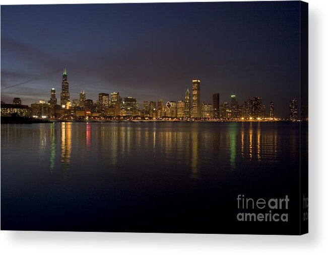 Chicago Acrylic Print featuring the photograph Chicago Skyline by Timothy Johnson