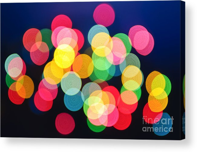 Blurred Acrylic Print featuring the photograph Christmas Lights Abstract by Elena Elisseeva