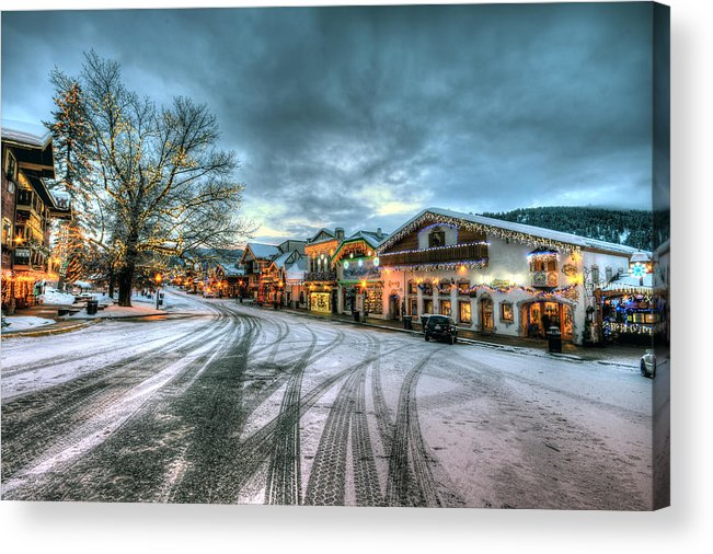 Hdr Acrylic Print featuring the photograph Christmas On Main Street by Brad Granger