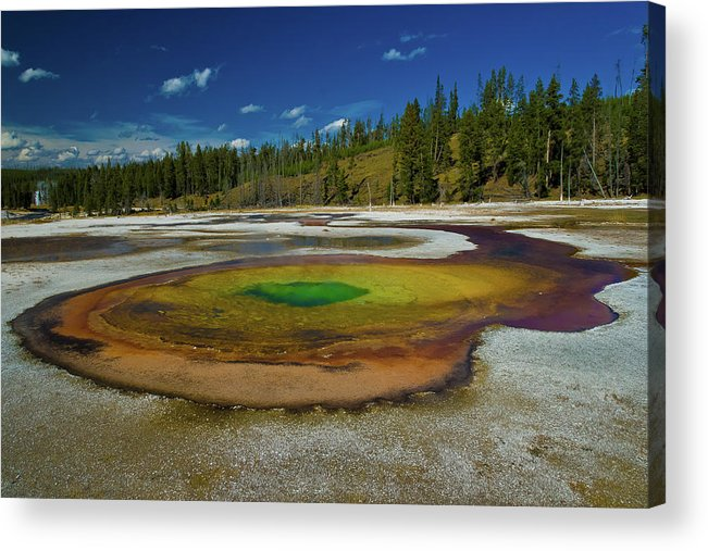 Yellowstone Acrylic Print featuring the photograph Chromatic Pool by Roger Mullenhour
