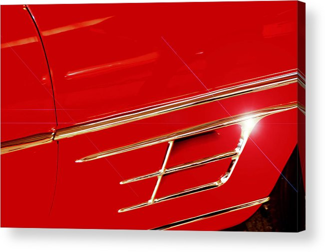 Italy Acrylic Print featuring the photograph Chrysler By Ghia by Dimitri Meimaris