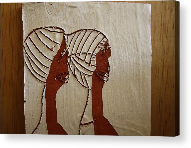 Jesus Acrylic Print featuring the ceramic art Church Ladies - Tile by Gloria Ssali