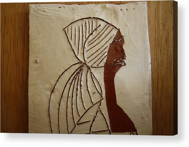 Jesus Acrylic Print featuring the ceramic art Church Lady - Tile by Gloria Ssali