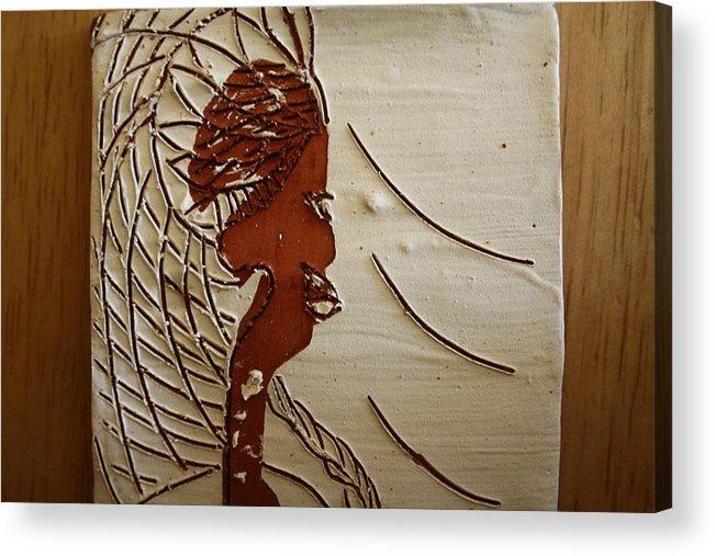 Jesus Acrylic Print featuring the ceramic art Church Lady 7 - Tile by Gloria Ssali
