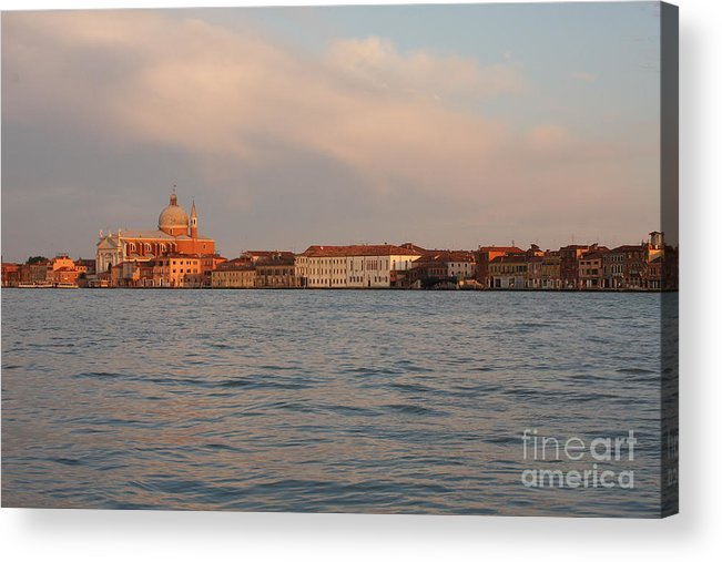 Venice Acrylic Print featuring the photograph Church Of The Redentore In Venice Across The Giudecca Canal by Michael Henderson