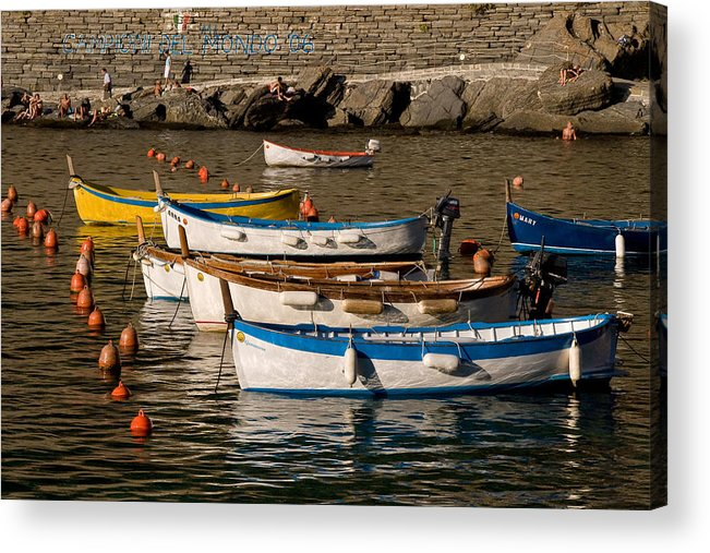 Italy Acrylic Print featuring the photograph Cinque Terre by Carl Jackson