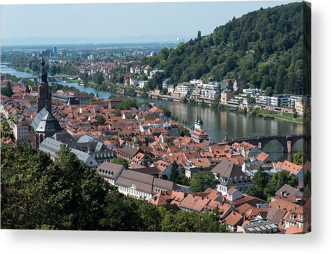 Heidelberg Acrylic Print featuring the photograph Cityscape Of Heidelberg In Germany by Michalakis Ppalis